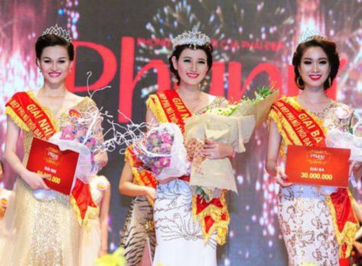 Băng đeo chéo hoa hậu đỏ