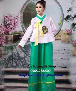 Hanbok nữ váy xanh lá