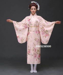 Kimono Yukata hoa văn nổi