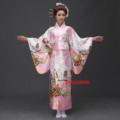Kimono Yukata nhiều màu