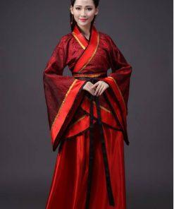 Hán phục cổ trang Trung Quốc nhà Tần Đỏ 11