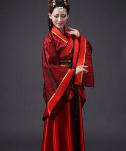 Hán phục cổ trang Trung Quốc nhà Tần Đỏ 10