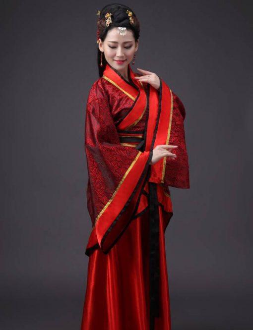 Hán phục cổ trang Trung Quốc nhà Tần Đỏ 7