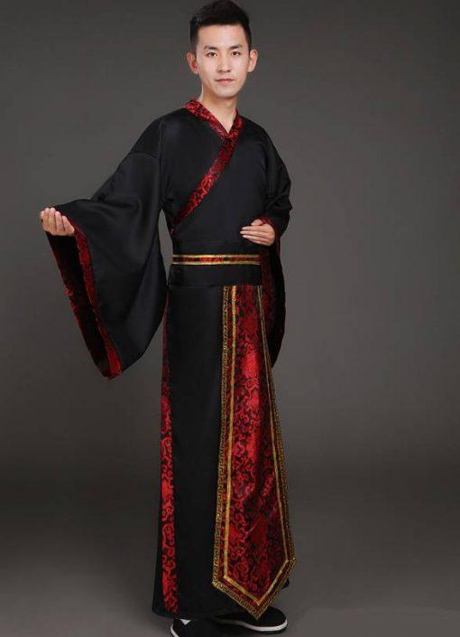 Hán phục cổ trang Trung Quốc nhà Tần Đỏ Nam 8