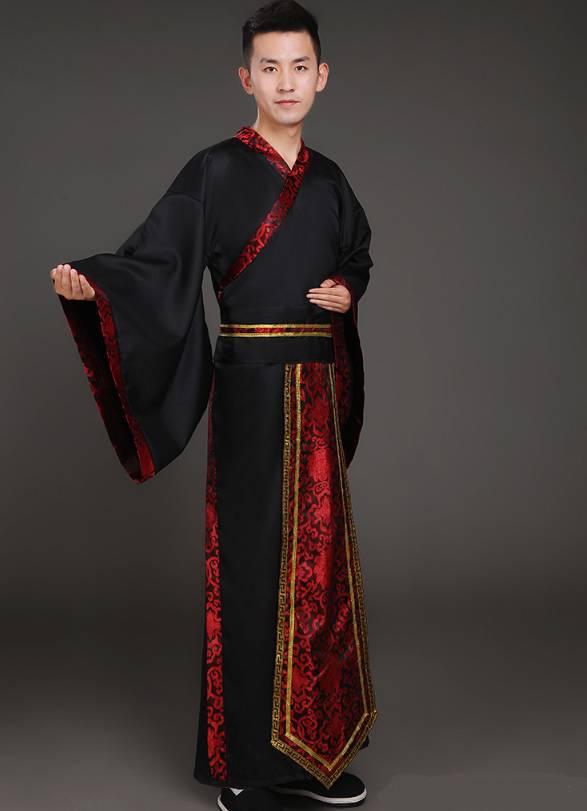 Hán phục cổ trang Trung Quốc nhà Tần Đỏ Nam 11