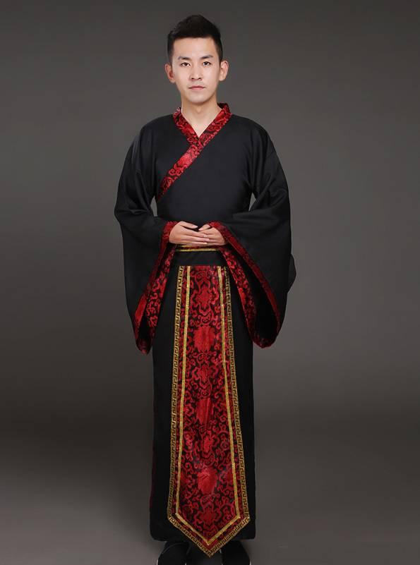 Hán phục cổ trang Trung Quốc nhà Tần Đỏ Nam 12