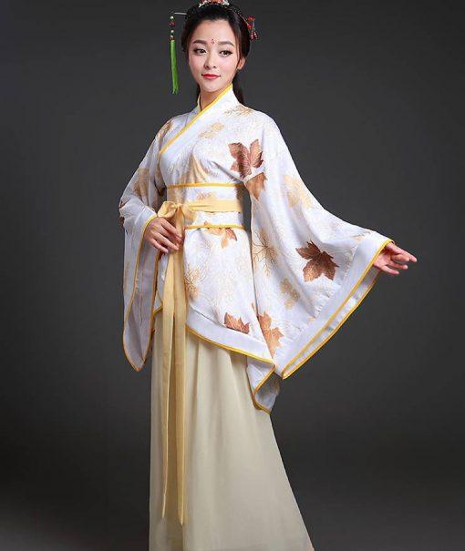 Hán phục cổ trang Trung Quốc nhà Tần Vàng 7