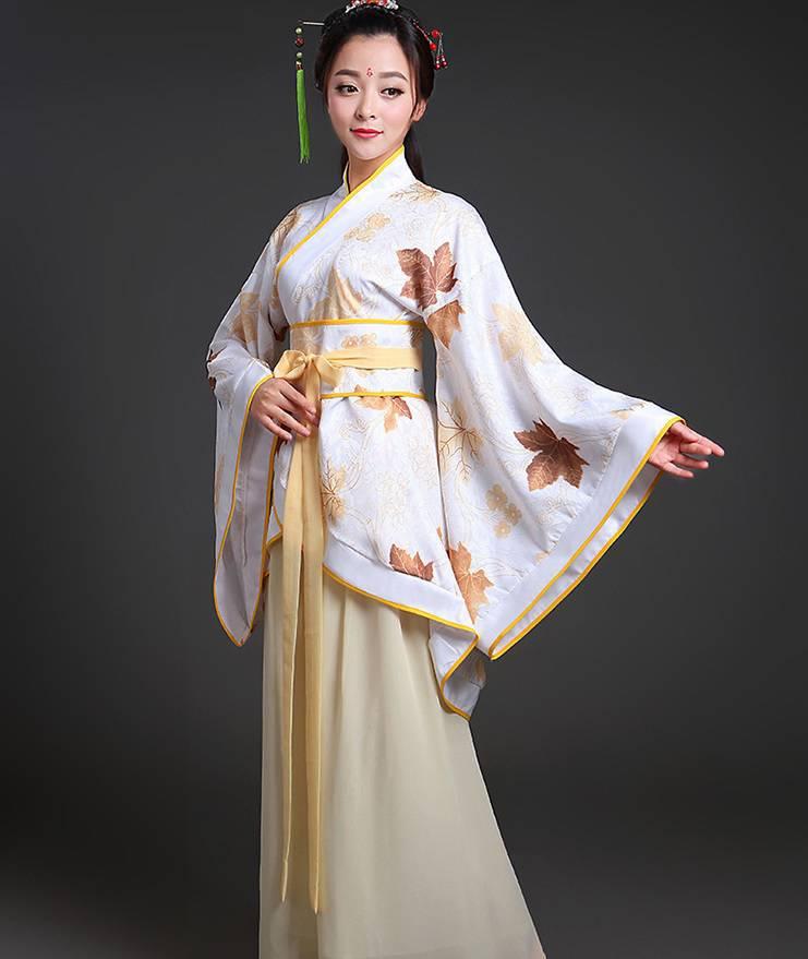 Hán phục cổ trang Trung Quốc nhà Tần Vàng 12