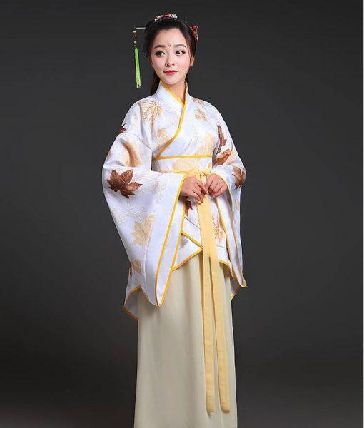 Hán phục cổ trang Trung Quốc nhà Tần Vàng 8